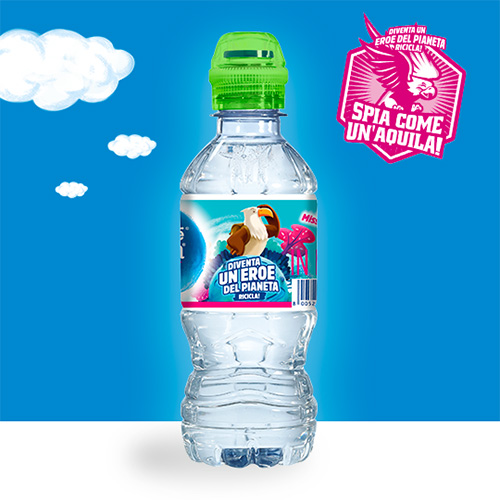 Spia come un Aquila con l'Acqua Nestlé Vera for Kids