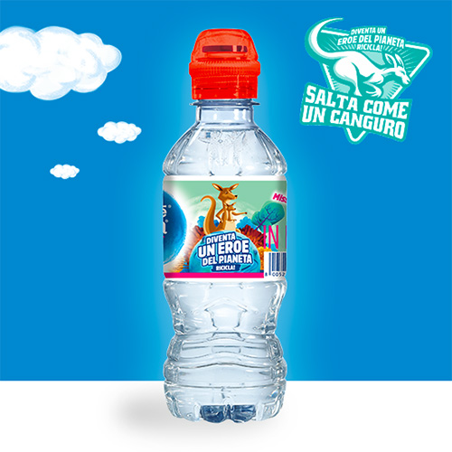 Salta come un Canguro con l'Acqua Nestlé Vera for Kids