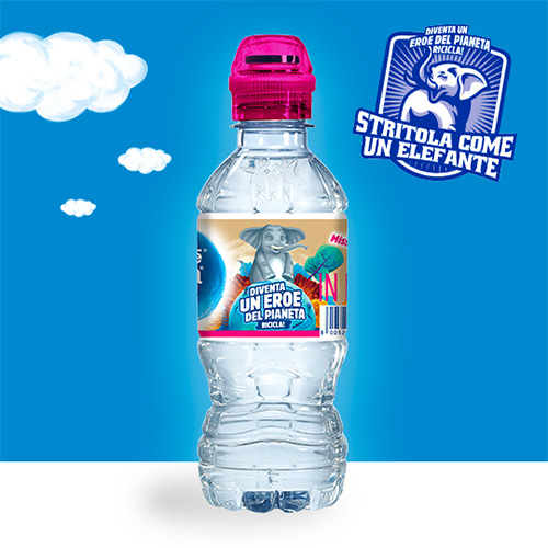 Stritola come un Elefante con l'Acqua Nestlé Vera for Kids